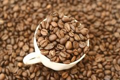 Full cup of coffee stock photography
