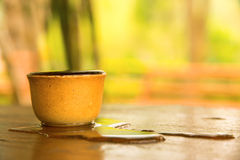 Full cup of water Royalty Free Stock Images