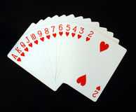 Full deck of hearts  Stock Photo