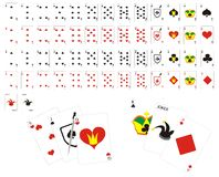 Full deck of playing cards Stock Images