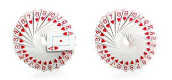 Full decks of cards Royalty Free Stock Photo