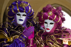 Full decorative costume in Venice carnival Stock Images