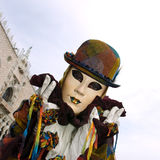 Full decorative costume in Venice carnival Royalty Free Stock Images
