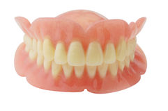 Full Denture. Denture with clipping path on white background stock photography