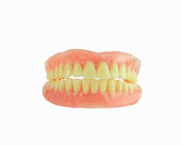 Full Denture have stain on teeth Stock Image