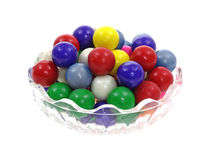 Full Dish Bubble Gum Balls Royalty Free Stock Photos