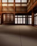 Full Dojo Background. Martial Arts Dojo Studio Backdrop for Full Body or Portraits Stock Photo
