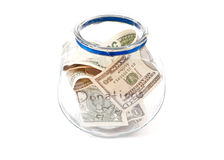 Full Donation Jar Stock Image
