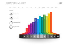 Full Editable Infographic Chart. Vector Template And Mockup For Your Business Brochure Or Presentation Design Royalty Free Stock Photography