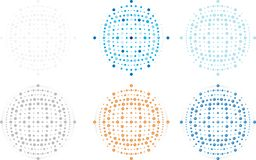 Vector editable orb, dots, spots, full resizable image, logo and background component Royalty Free Stock Photo