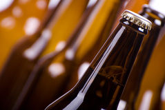 Full and empty beer bottle Royalty Free Stock Image