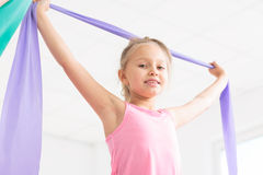 Full of energy for her favourite gymnastics classes Stock Image
