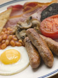 Full English Breakfast. Close up of a Full English Breakfast Stock Image