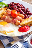 Full english breakfast. Stock Photo