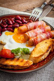 Full english breakfast. Royalty Free Stock Images