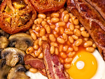 Full english breakfast food background Royalty Free Stock Photography