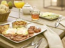 Full english breakfast at the hotel Stock Photos
