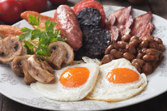 Full english breakfast Stock Photos