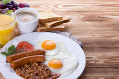 Full English Breakfast Stock Photo