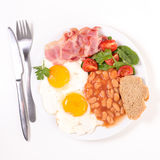 Full english breakfast Royalty Free Stock Photo
