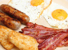 Full English Cooked Breakfast Stock Image