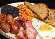 Full English Fried Breakfast Stock Photo