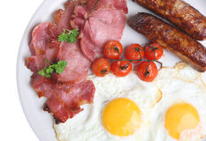 Full English Fried Breakfast Royalty Free Stock Photo