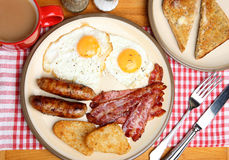 Full English Fried Breakfast Royalty Free Stock Image