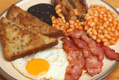 Full English Fried Cooked Breakfast Stock Images