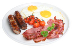 Full English Fried Cooked Breakfast Royalty Free Stock Photo