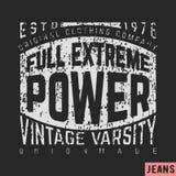 Full extreme power vintage Royalty Free Stock Photos