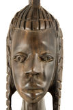 Full face - statuette. Handmade ebony african statuette of a woman - full face closeup Stock Photo