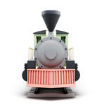 Full face vintage locomotive. 3d render image. Royalty Free Stock Photography