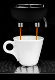 Full of flavor. An elegant cup of coffee Stock Photography
