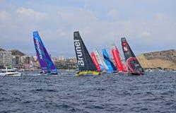 The Full Fleet Volvo Ocean Race Alicante 2017 Royalty Free Stock Images