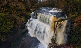 Full flow at Sgwd Clun Gwyn waterfall Royalty Free Stock Image