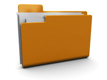 Full folder icon. 3d illustration of folder with documents icon Stock Photos