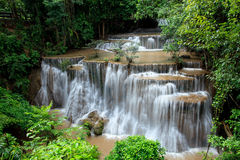Full form of hauy mae kamin water falls in deep forest national Stock Photography