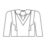 Full formal attire with tie. Vector illustration Royalty Free Stock Images