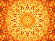 Abstract Background of Fire Mandala Pattern. Full Frame Abstract Background of Fire Mandala Pattern royalty free illustration