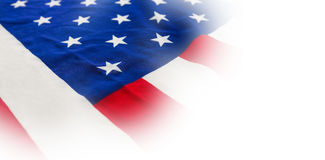 Close-up of national flag. Full frame of American national flag Royalty Free Stock Photos