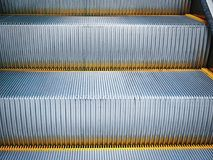 Full Frame Background of Close-up Escalator Stairs. At the Mall Stock Images