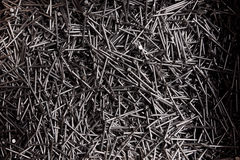 Full frame background showing lots of metallic nails Royalty Free Stock Photos