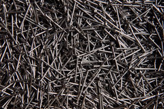 Full frame background showing lots of metallic nails Stock Photos