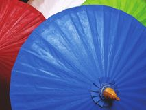 Full Frame Background of Vivid Colorful Umbrellas Stock Image