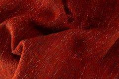Full frame of blanket. Full frame of red blanket royalty free stock images
