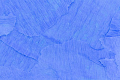 Blue crepe paper stock image