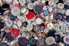 Full frame of buttons Stock Photography