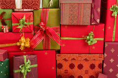 Full frame of christmas presents Royalty Free Stock Images