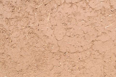 Full frame close-up of a adobe mud wall. In New Mexico. The texture and straws are visible Stock Photography